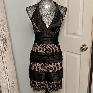 BCBGMaxAzria satin and lace dress